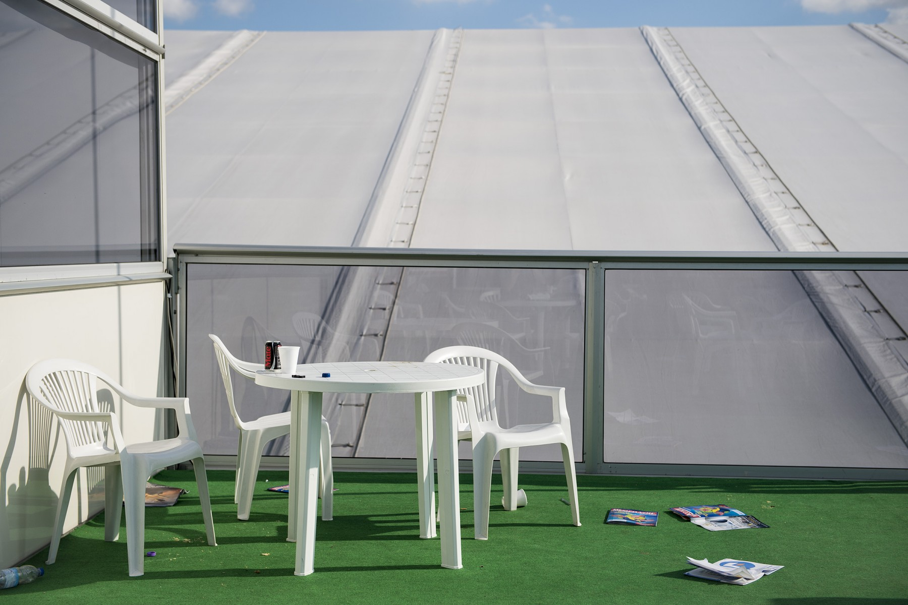 The end of the party - Press Centre Farnborough 2014